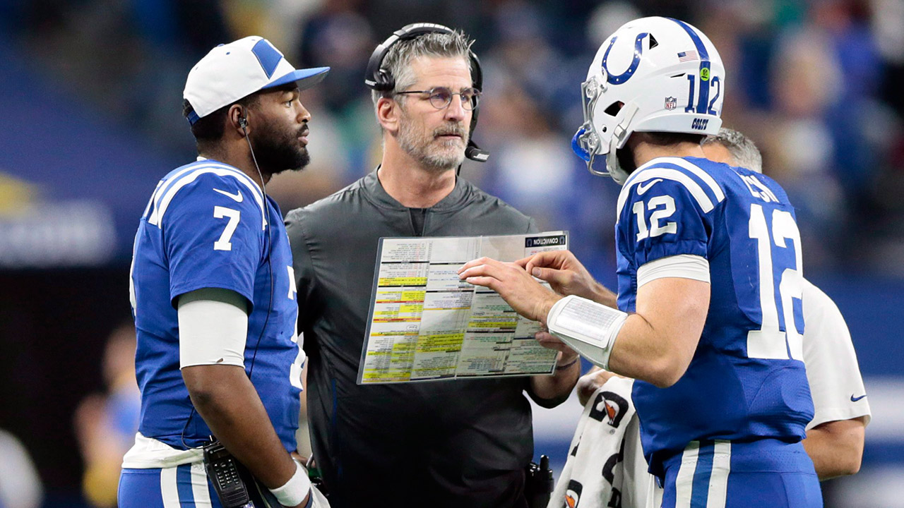 jacoby-brissett-andrew-luck-talk-with-frank-reich