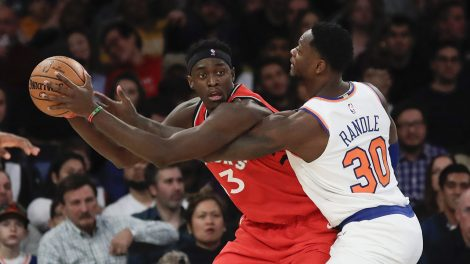 Pascal-Siakam-posts-up-against-the-Knicks