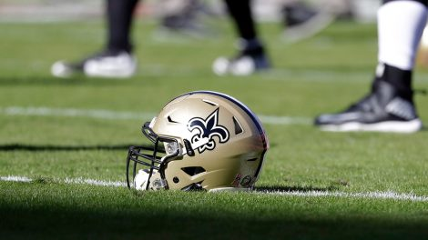 saints-helmet-on-a-practice-field