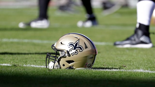 saints-helmet-on-a-practice-field