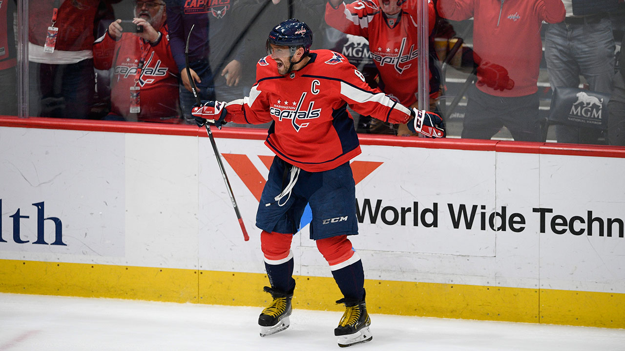 Ovechkin chalks up another kill shot as he downs the Jets in a shootout