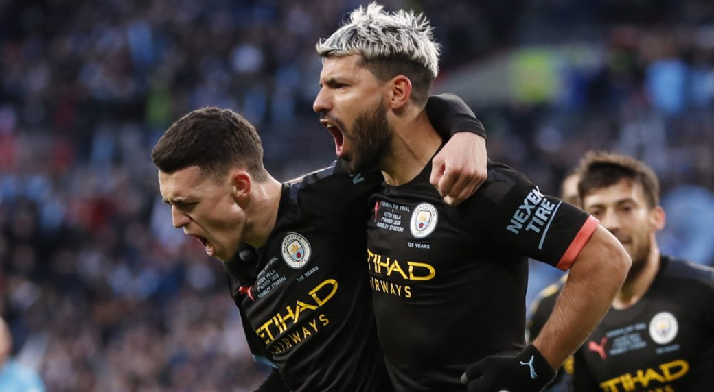 Man City beats Aston Villa to win third straight League Cup ...