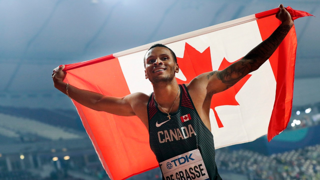 Canadian Andre De Grasse races to another 200m win in Hungary