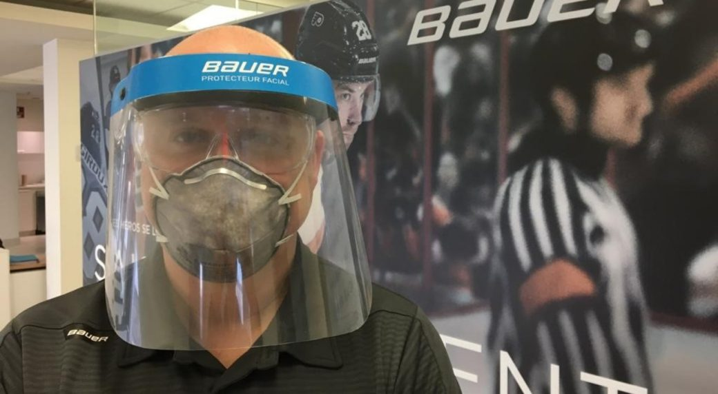 Hockey equipment manufacturer now making face shields for medical professionals | Offside