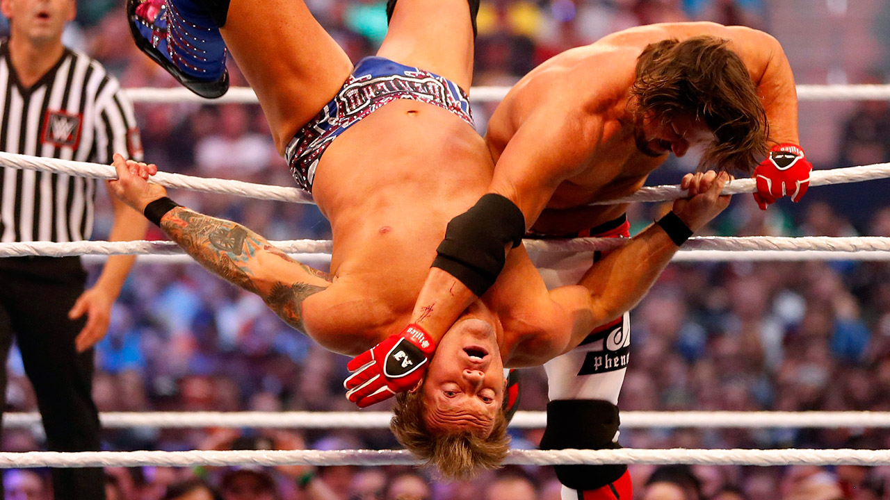 """Aj-Styles-und-Chris-Jericho-at-Wrestlemania-32 """"width ="""" 1280 """"height ="""" 720 """"class ="""" size-full wp-image-4884120 """"/> AJ Styles, on the right, struggles Chris Jericho during WrestleMania 32 at AT&T Stadium in Arlington, Texas, Sunday, April 3, 2016. (Jae S. Lee / The Dallas Morning News on AP)   <p> Still, there was much criticism of WWE's results from This match: Jericho was an established star who made victory virtually meaningless, while Styles, who had just joined the company, needed victories to secure some form of credit with the WWE universe. </p> <p> Four years later, Styles seems to be fine. Styles looked like a star and that's why the match served its purpose. </p> <p> Looking back at AJ's """"Mania debut"""" the outcome of the game doesn't matter. Styles has become one of the top draws in the main event scene, while fighting for the title of best wrestler in the entire WWE. </p> </pre> </pre>   </div><!-- .entry-content /-->  <script type="""