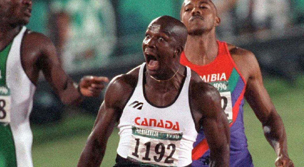 donovan-bailey-celebrates-100-metre-victory-at-96-olympics