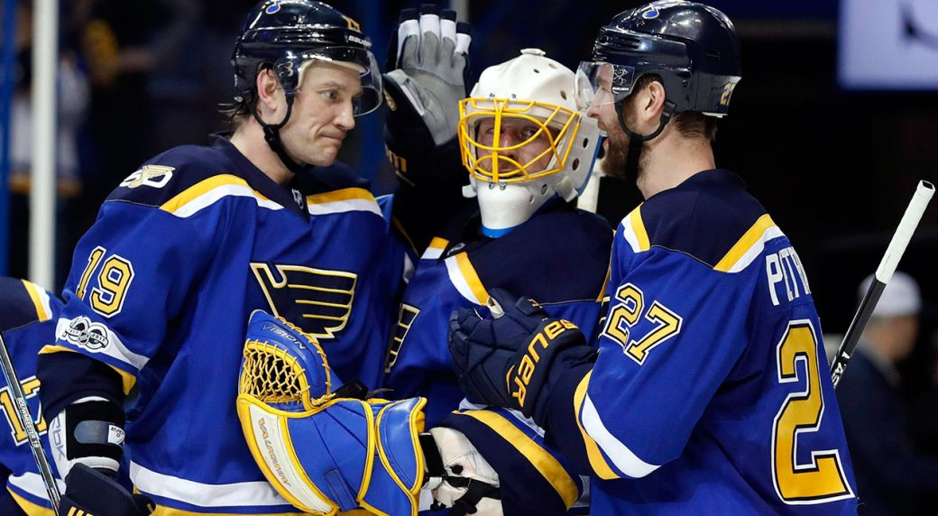 St.-Louis-Blues-Jay-Bouwmeester-Jake-Allen-Alex-Pietrangelo-celebrate-a-win