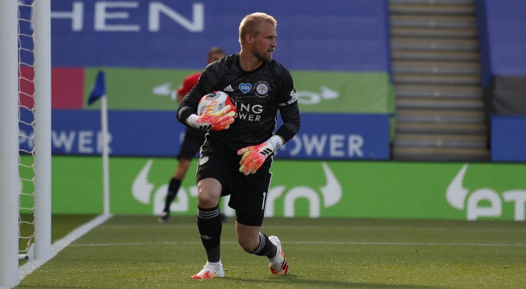 Schmeichel saves penalty as Leicester draws with Brighton