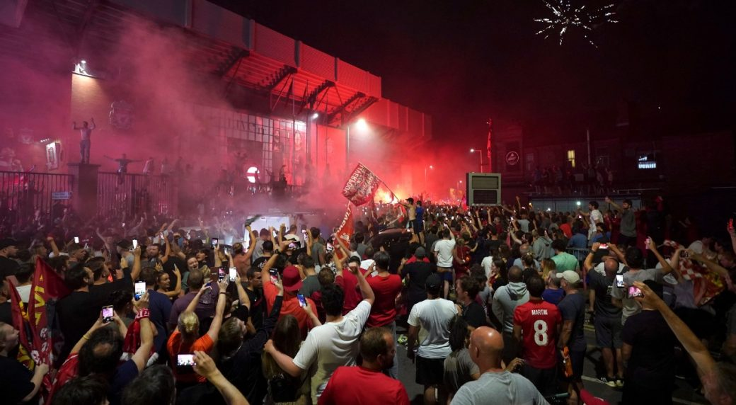 Liverpool police warn of virus threat after Anfield party