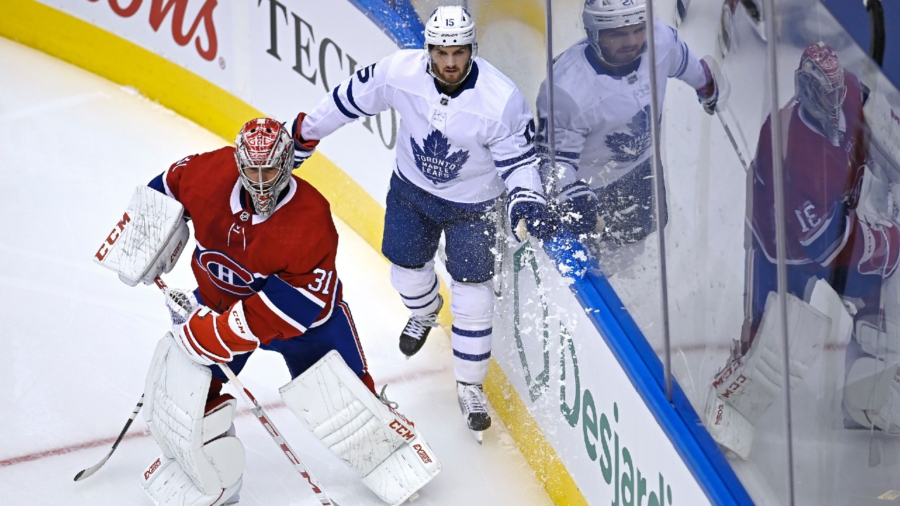 Kerfoot scores twice, Maple Leafs down Canadiens in exhibition play