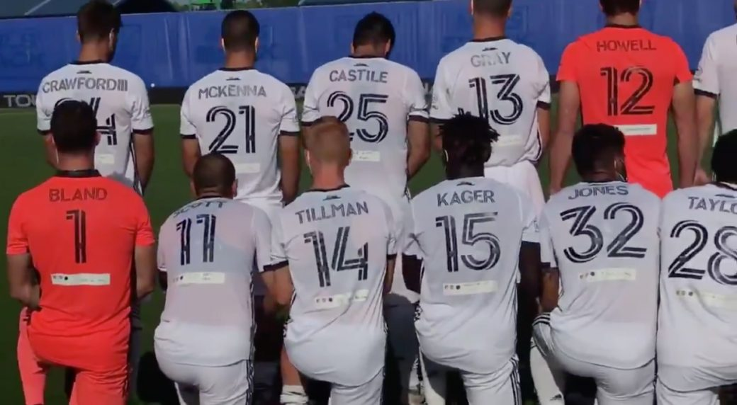 MLS Union honors black victims of police brutality in win