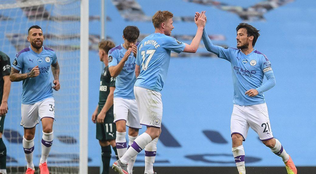 Riyad Mahrez hails Man City goalscoring power