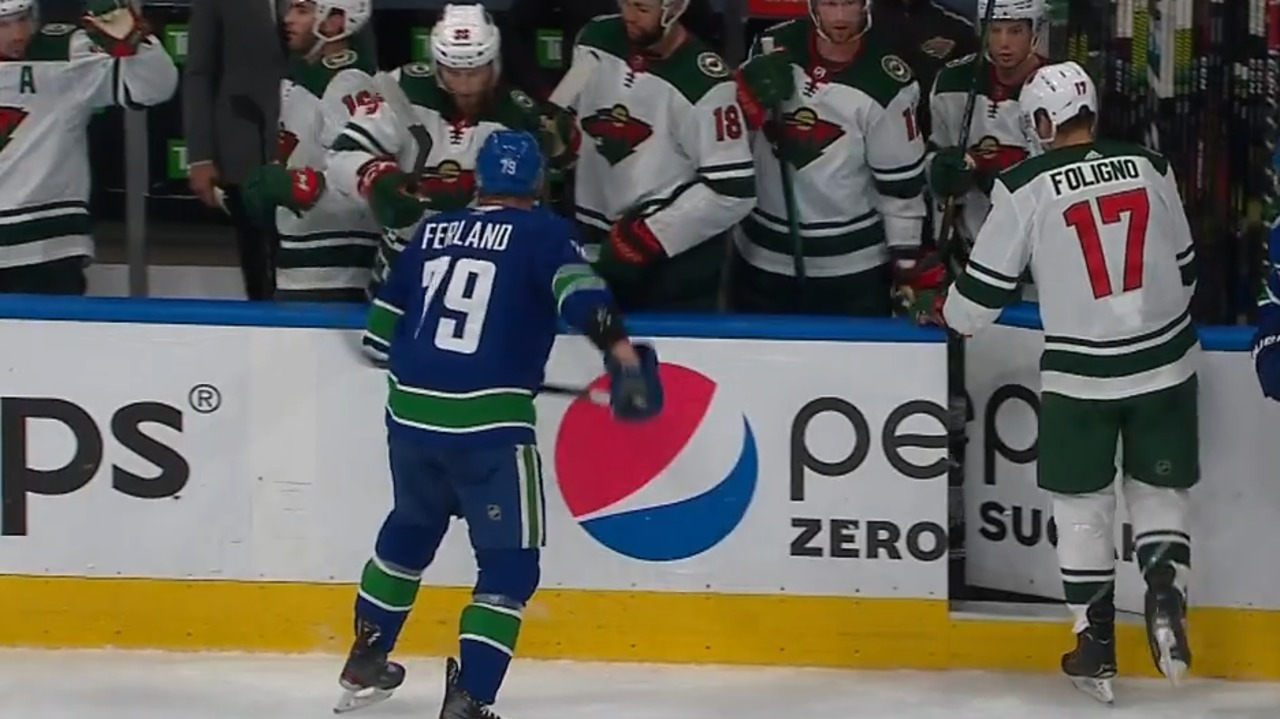 Canucks' Ferland fined $5K, avoids suspension for spear