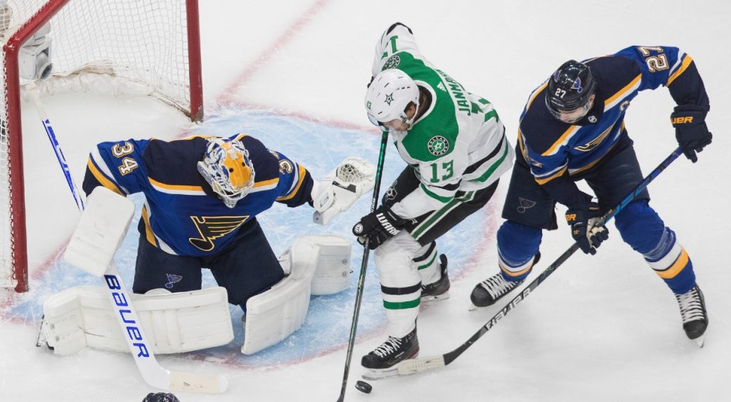 Stars go with Khudobin over Bishop to start series with Flames