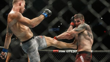 Marc-Andre-Barriault-is-kicked-by-Krzysztof-Jotko-at-UFC-240