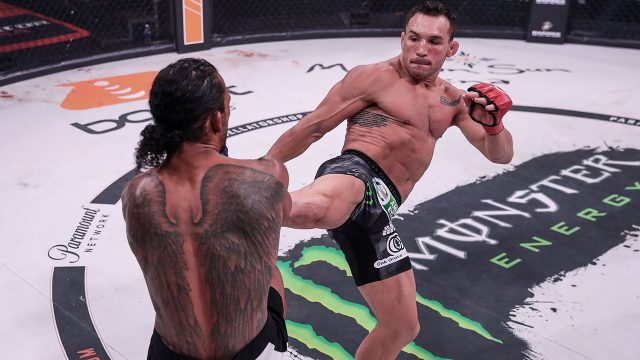 Michael-Chandler-knocked-out-Benson-Henderson-in-the-main-event-of-Bellator-243