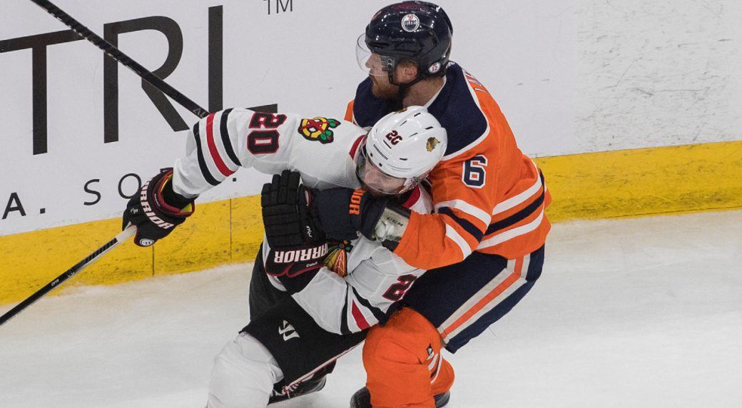 Oilers Adam Larsson Unfit To Play In Game 3 Vs Blackhawks Sportsnet Ca