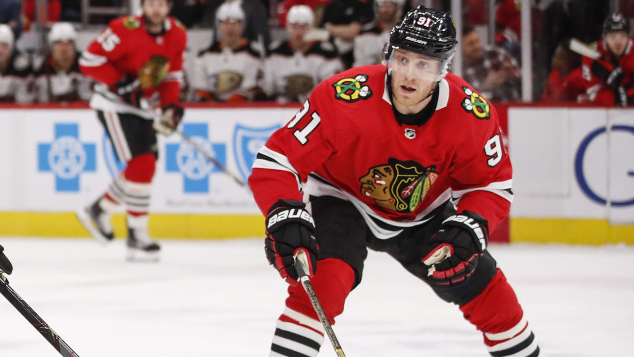 Blackhawks' Caggiula suspended one game for illegal hit on Ennis