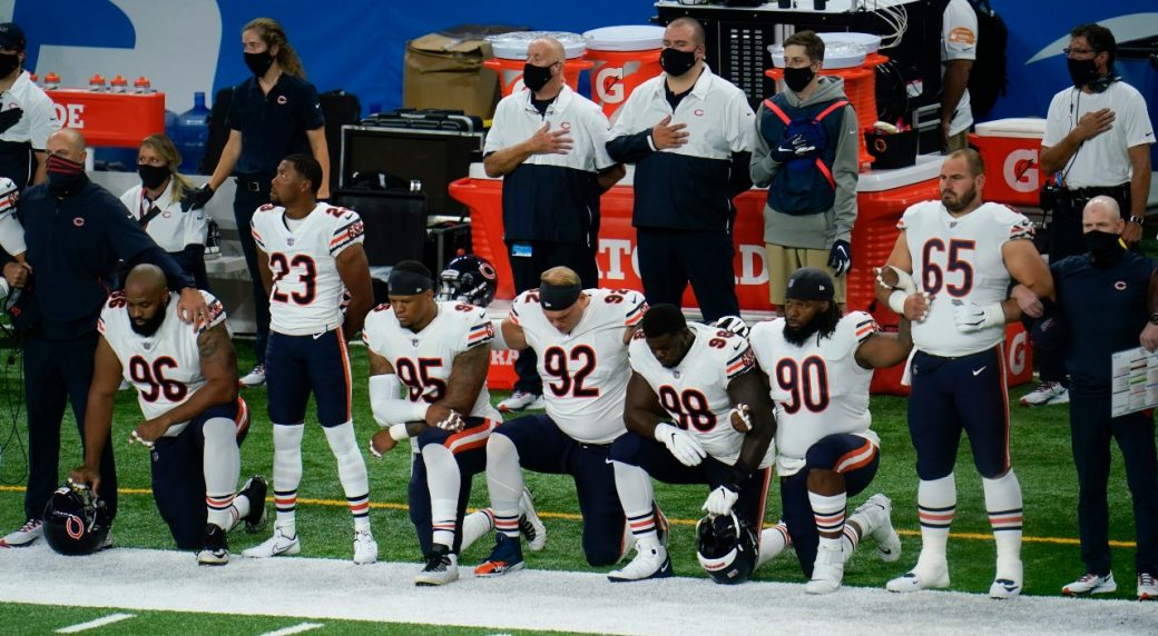Colin Kaepernick condemns National Football League  anti-racism protest support as 'propaganda'