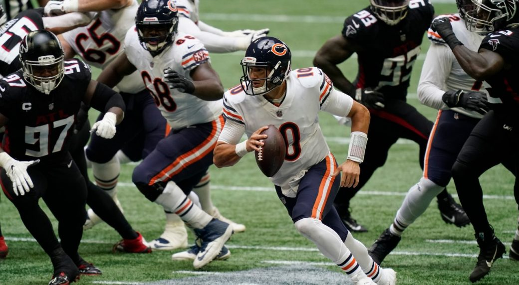 Bears to start Trubisky vs. Packers as Foles listed as doubtful