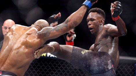 UFC-middleweight-champion-Israel-Adesanya-kicks-Yoel-Romero-at-UFC-248