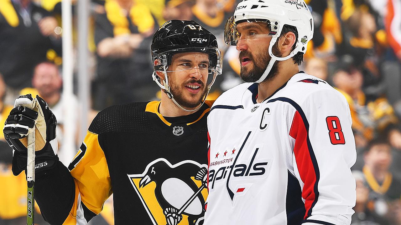 Sidney-Crosby;-Alex-Ovechkin;-Pittsburgh-Penguins,-Washington-Capitals