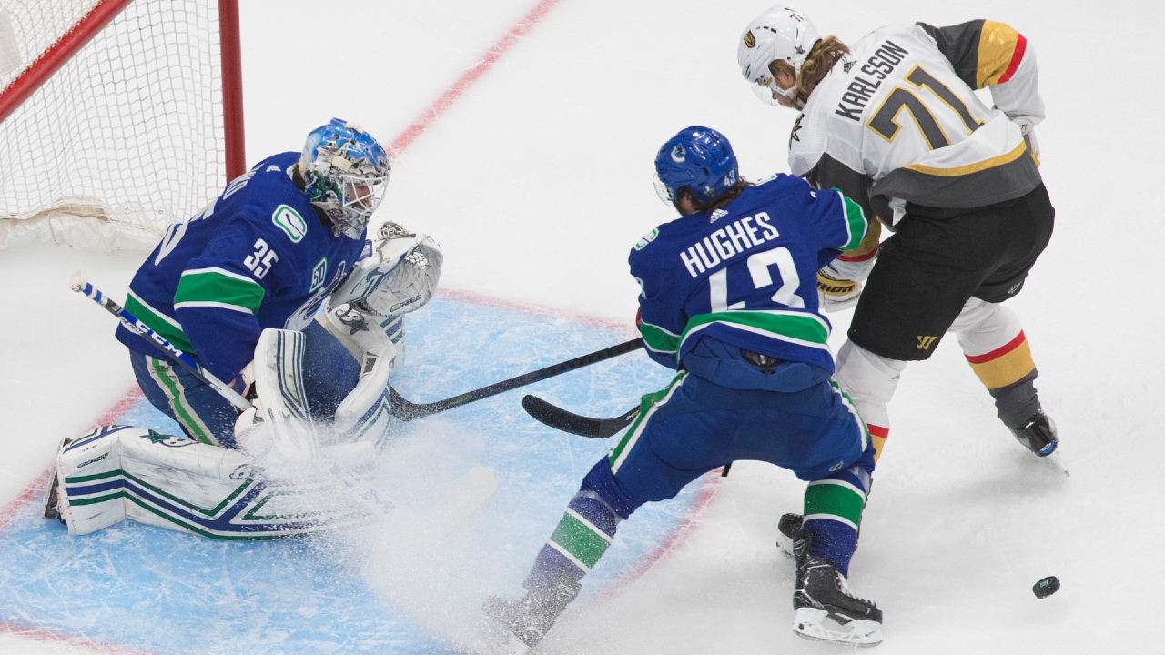Another record setting night for the Canucks' Hughes and Demko