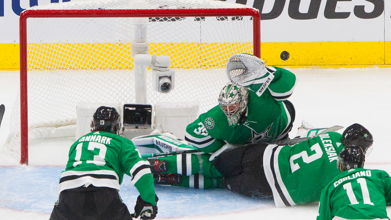 Stars' take charge over Knights as Khudobin shuts the door late
