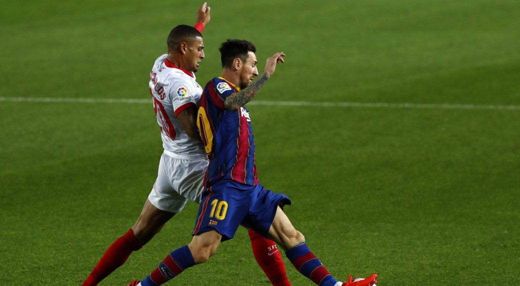 Sevilla suffocate Barcelona in 1-1 draw at Camp Nou