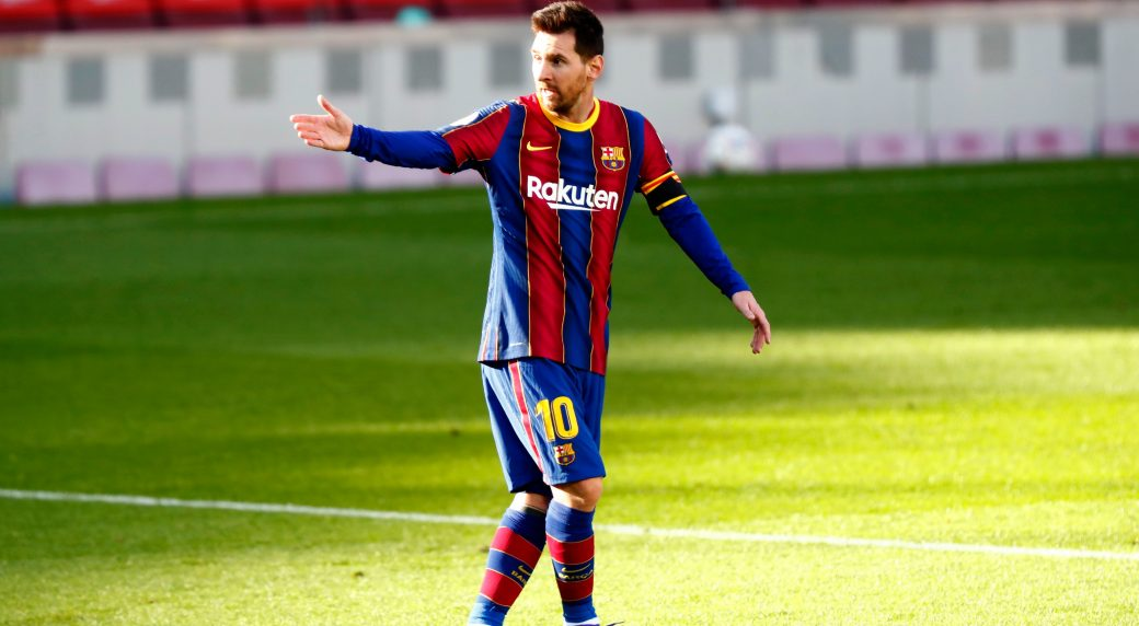 Messi salutes Maradona as Barcelona trounces Osasuna