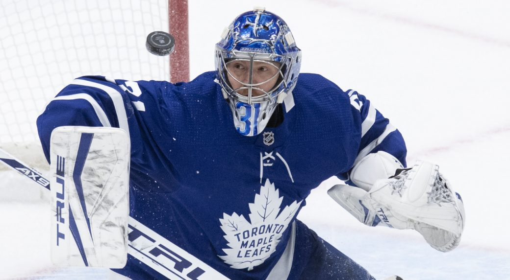 The Leafs are staying positive on Andersen's lower body injury