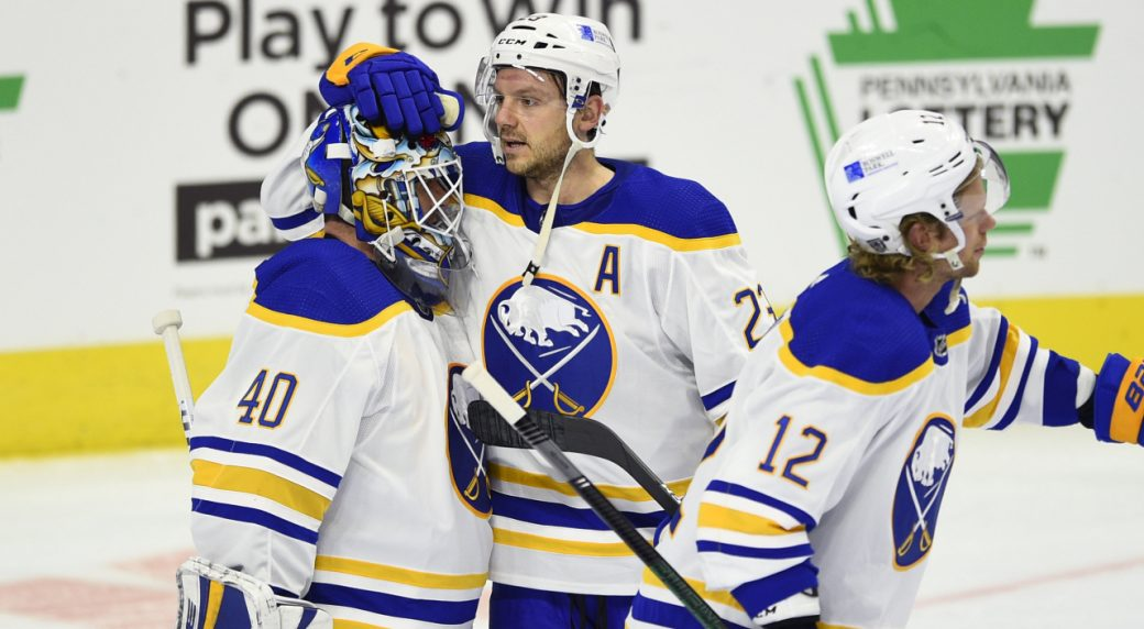Hutton and the Sabres trounce Philly 6-1