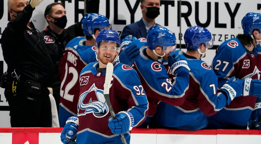Avs' hammer the Blues as Grubauer earns his 12th career shutout