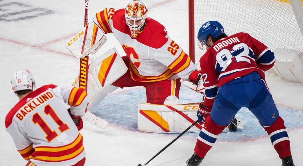 Flames burst Montreal's bubble as Markstrom earns the shutout win