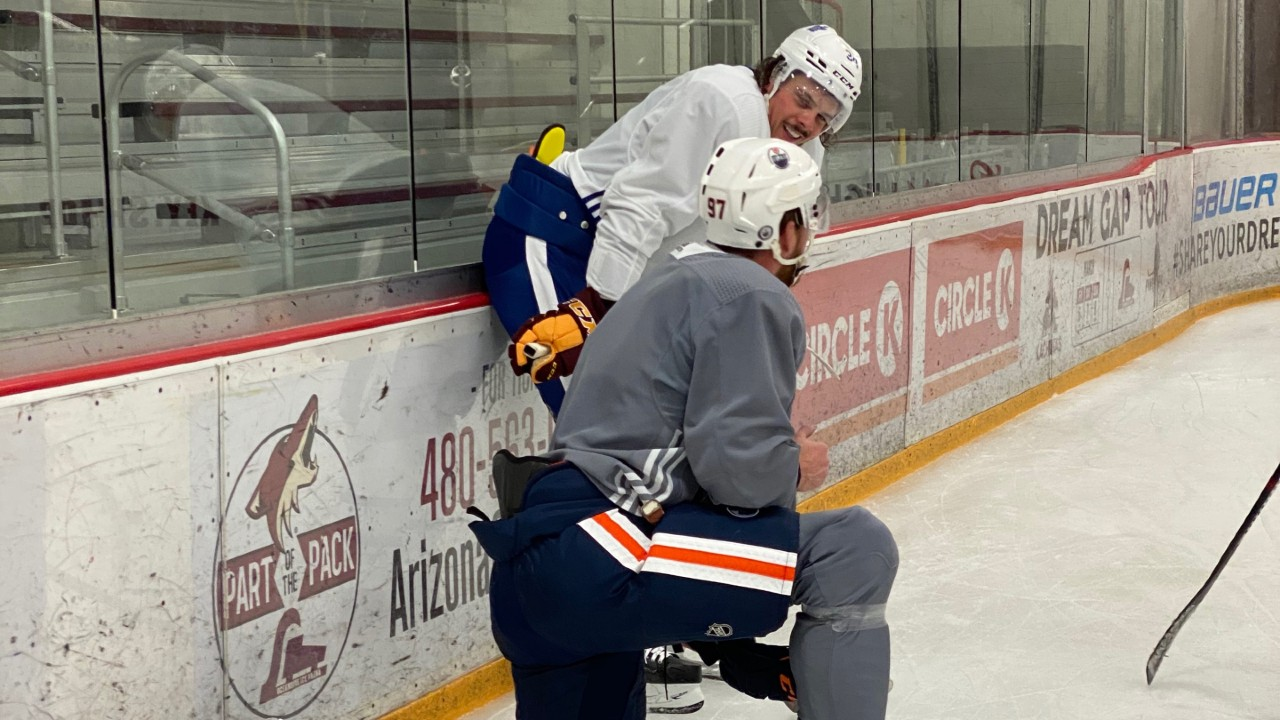The do's and don'ts of skating with NHL players in summer hockey