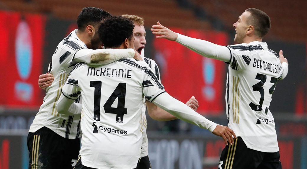 Juventus wins at Milan to end Rossoneri's unbeaten run