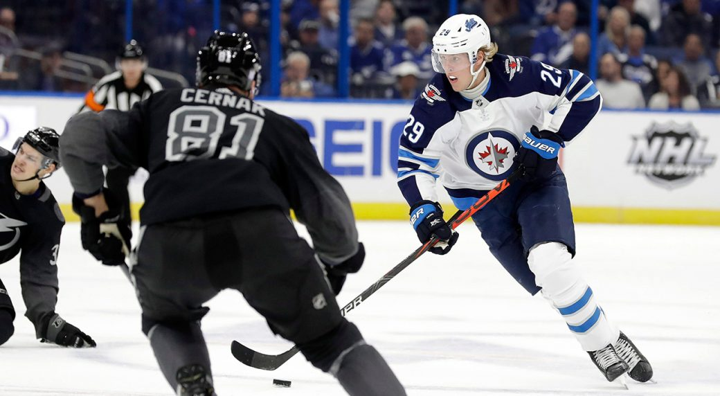 Laine may play Tuesday against the Stars