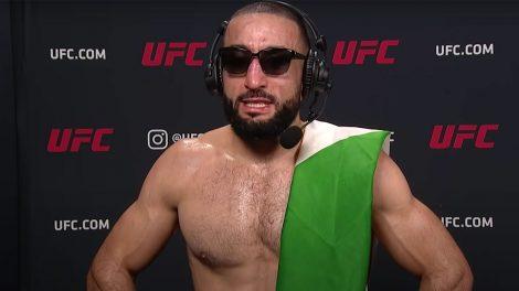 UFC-welterweight-Belal-Muhammad-being-interviewed-following-a-win