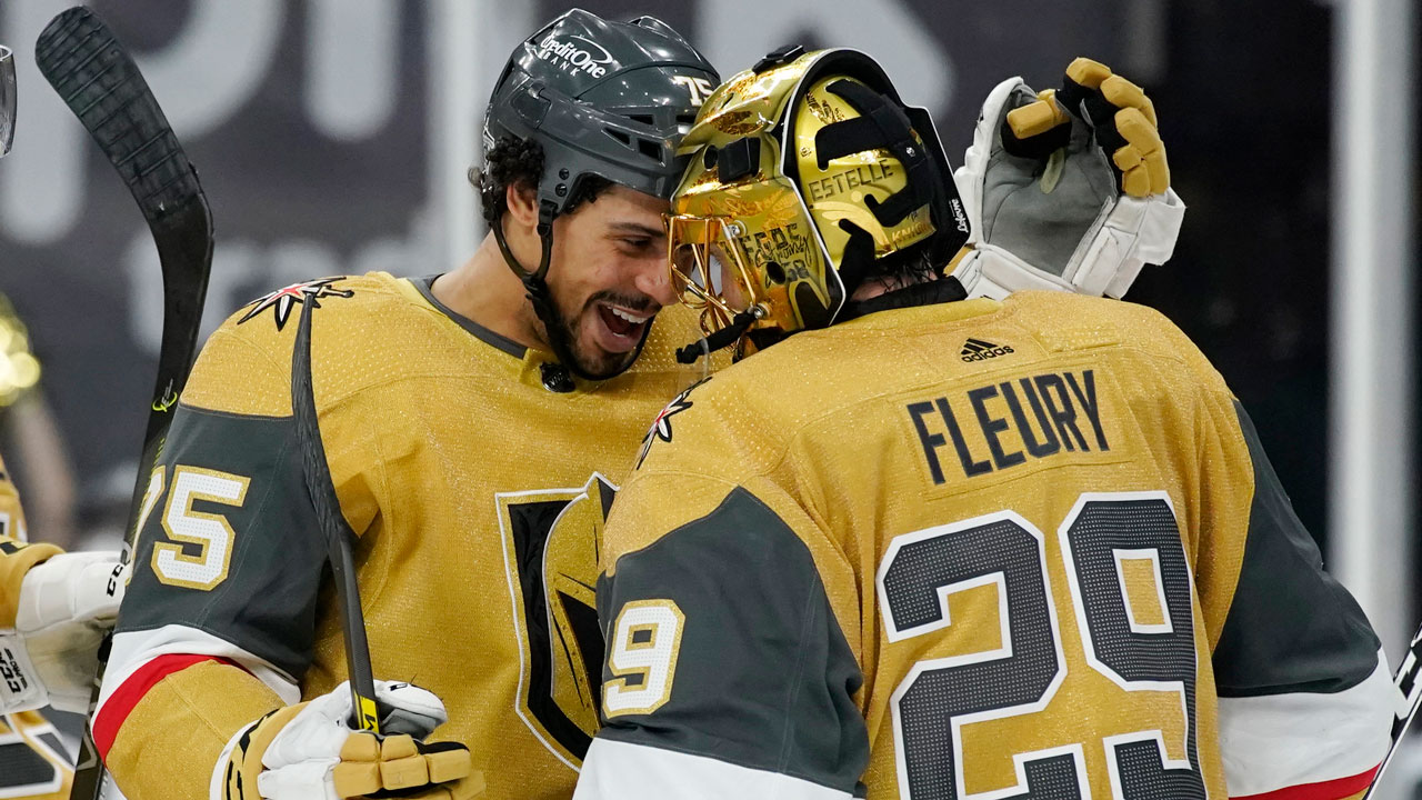 Golden Knights beat Sharks, become first team to clinch playoff spot