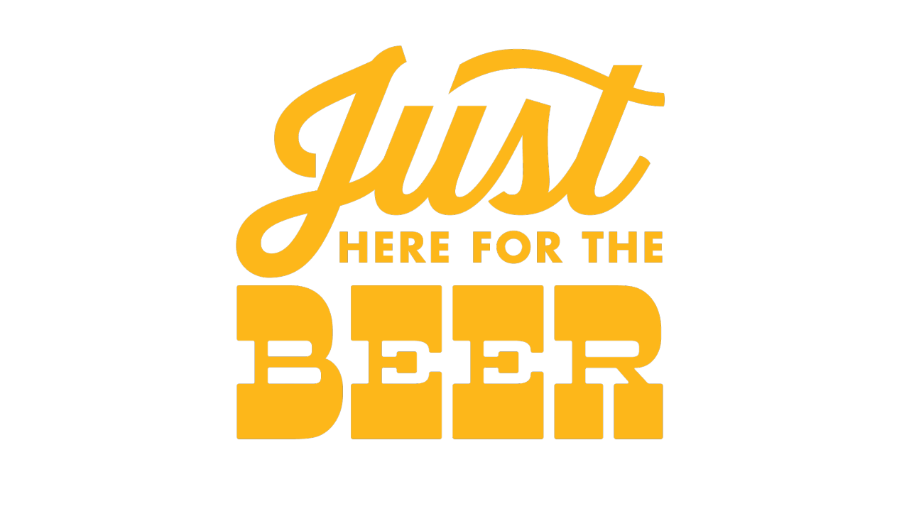 Just Here For The Beer Logo Image