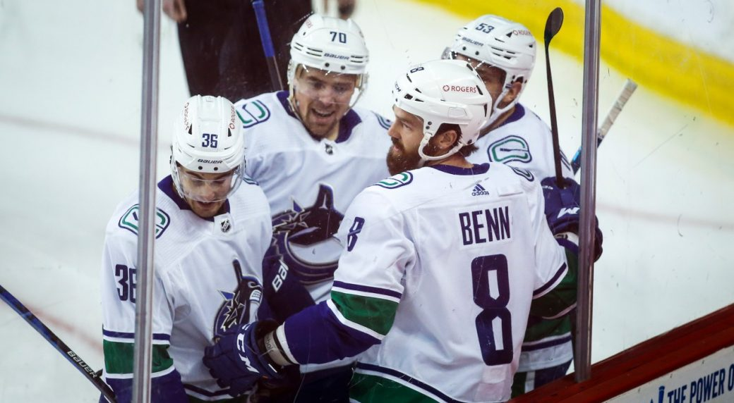 Canucks explode for 5 goals and pick up a rare road win vs the Flames