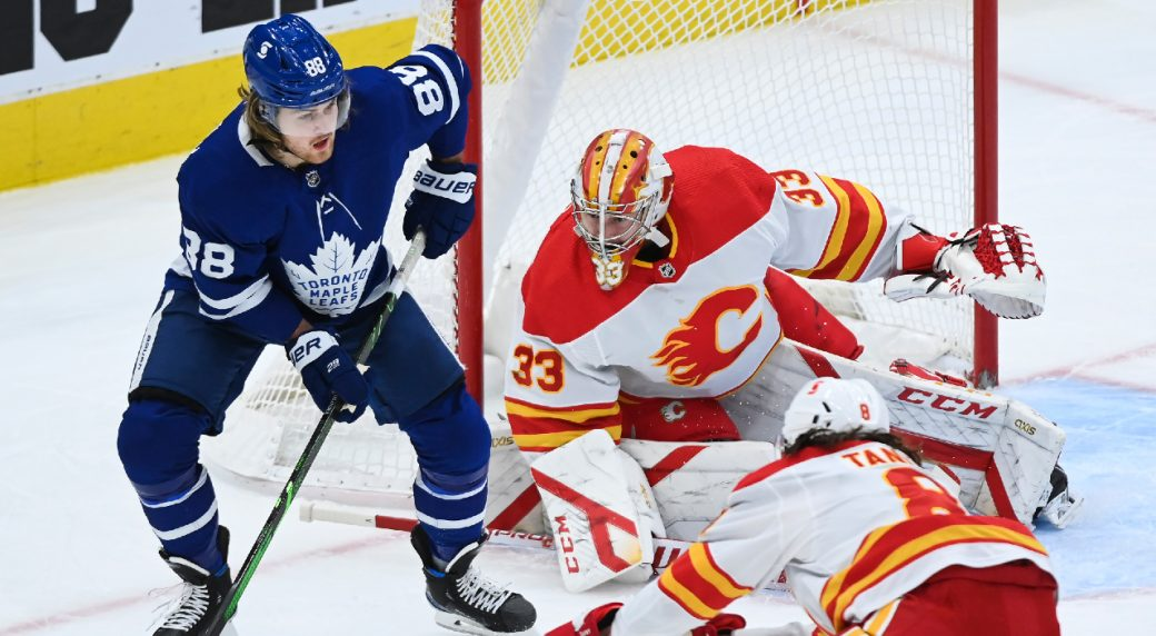 Rittich pitches a shut out Calgary as they top the Leafs in T.O.