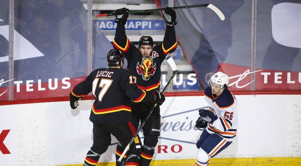 Bennett scores in his return to the lineup as Calgary outguns the Oilers