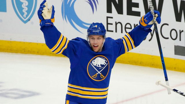 Taylor-Hall-celebrates-a-Buffalo-Sabres-goal