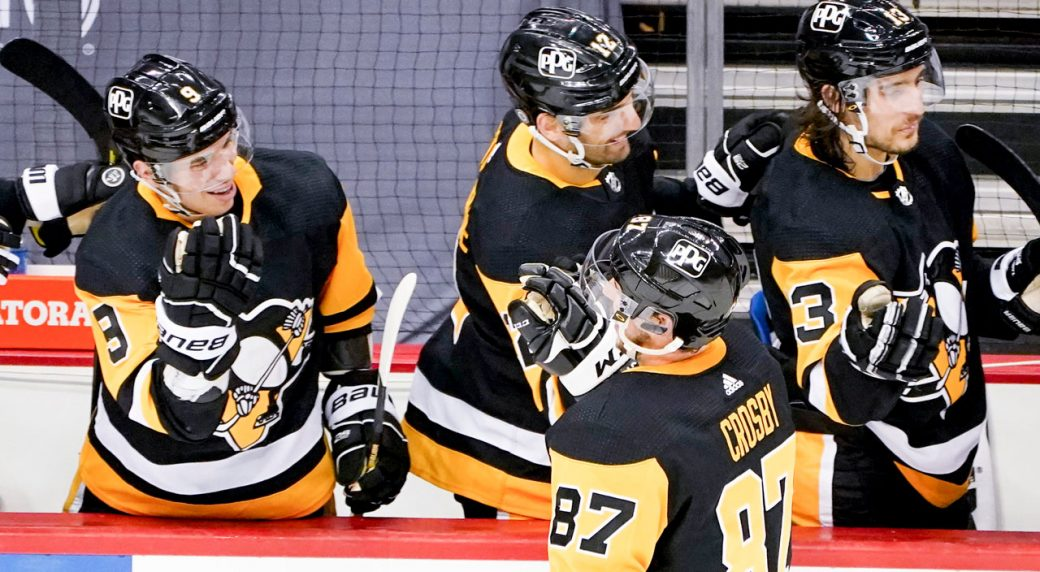 Crosby caps first-period outburst, Penguins defeat Rangers