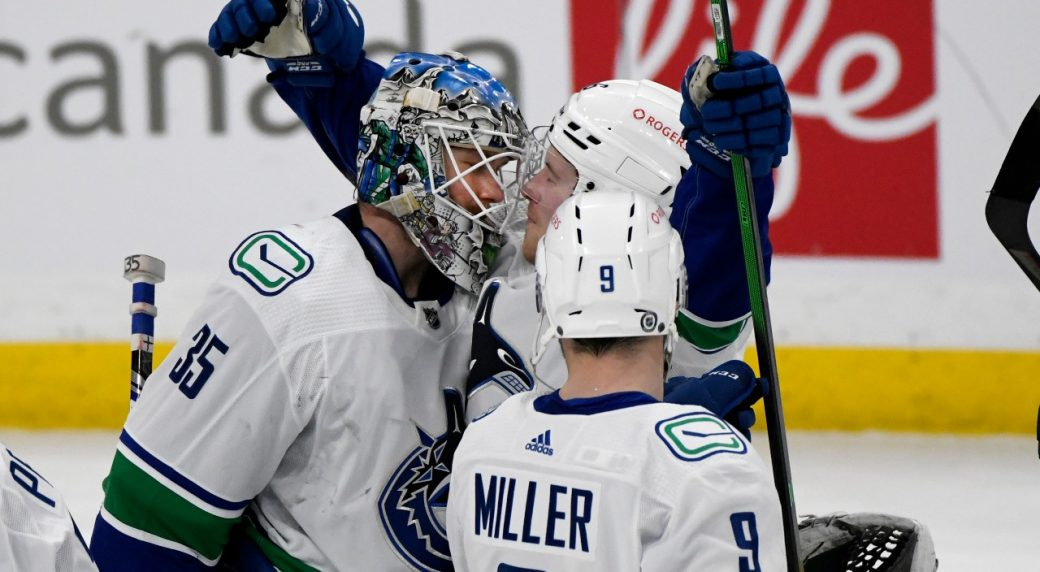 Demko earns his first NHL shutout......and it couldn't come at a better time for the Canucks