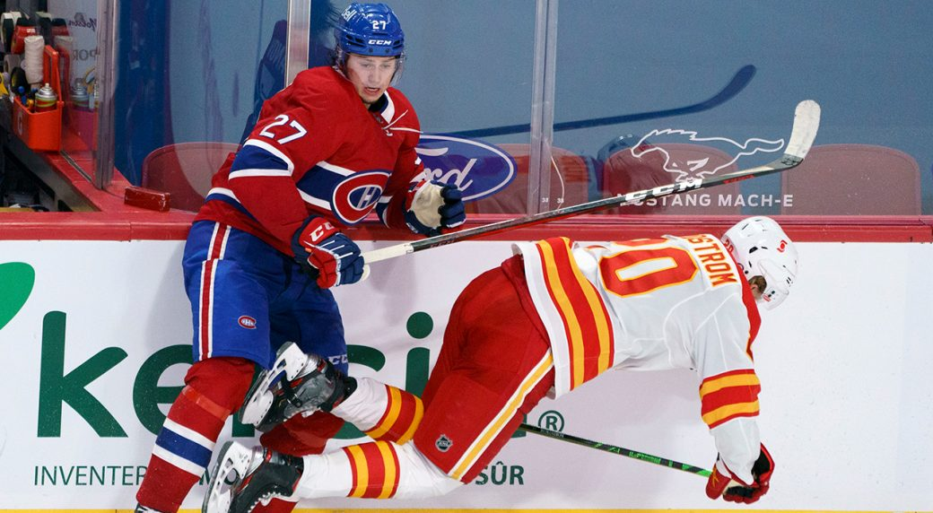 Flames' recent surge extinguished in crushing loss to Canadiens