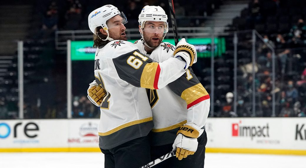 Knights join the Avalanche on top of the West Division after win over the Ducks