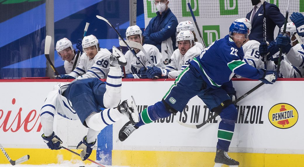 Canucks overcome the flu and beat the Leafs with a gritty 60 minute effort