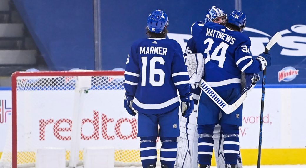 Campbell sets team record with 10th win in a row as Leafs edge Canadiens